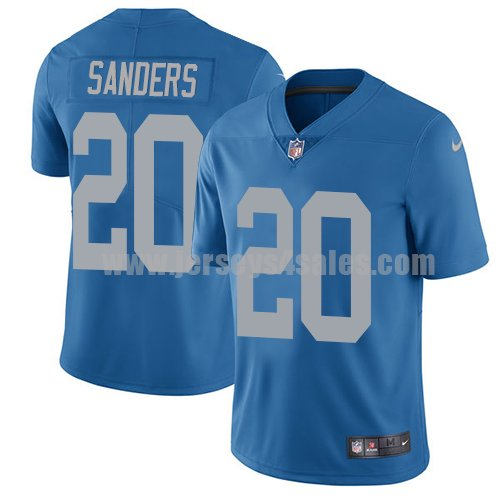 Men's Detroit Lions #20 Barry Sanders Blue Nike NFL Throwback Limited Jersey