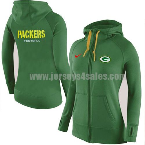 Women's Green Bay Packers Green Nike Stadium Rally Full Zip NFL Hoodie