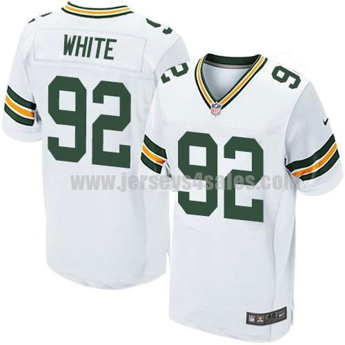 Nike Packers #92 Reggie White White Men's Stitched NFL Elite Jersey