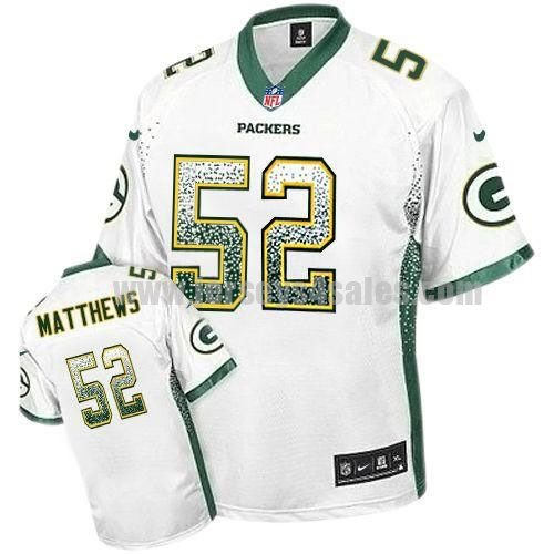 Nike Packers #52 Clay Matthews White Men's Stitched NFL Elite Drift Fashion Jersey