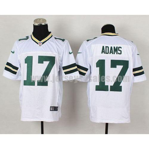 Nike Packers #17 Davante Adams White Men's Stitched NFL Elite Jersey