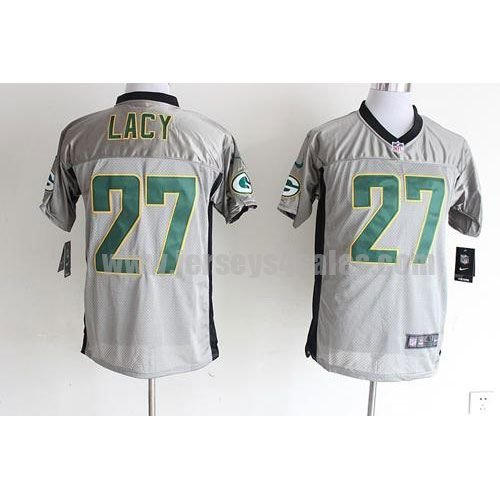 Nike Packers #27 Eddie Lacy Grey Shadow Men's Stitched NFL Elite Jersey