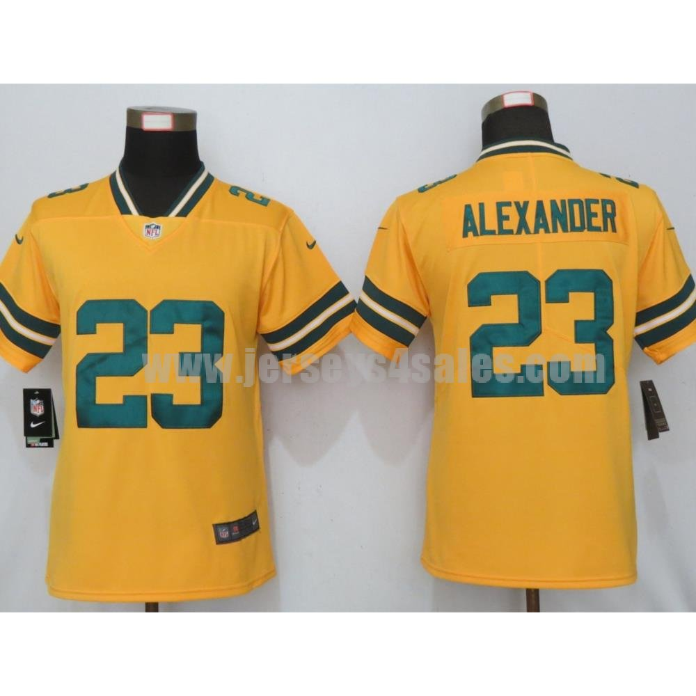 Women's Nike Green Bay Packers #23 Jaire Alexander Gold Inverted Legend Jersey