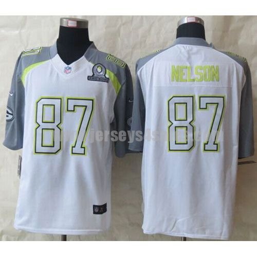 Nike Packers #87 Jordy Nelson White Pro Bowl Men's Stitched NFL Elite Team Carter Jersey
