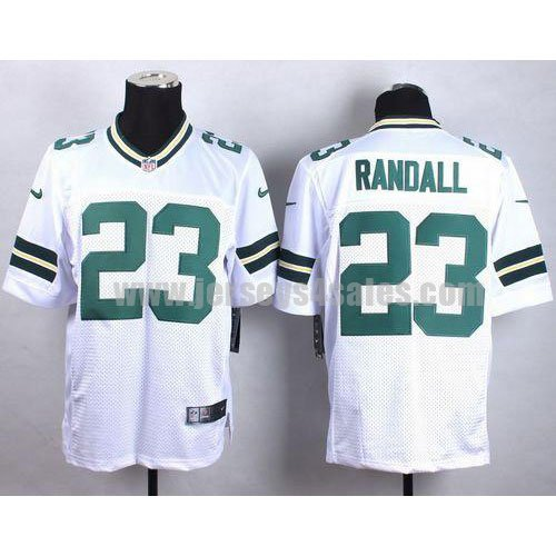 Men's Green Bay Packers #23 Damarious Randall White Stitched Nike NFL Road Elite Jersey