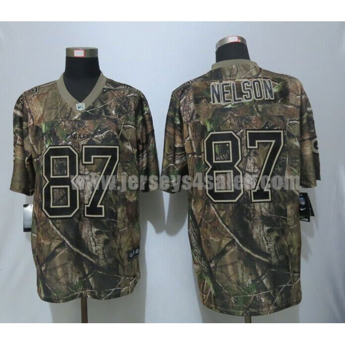 Nike Packers #87 Jordy Nelson Camo Men's Stitched NFL Realtree Elite Jersey