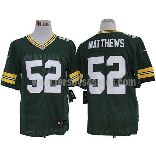 Nike Packers #52 Clay Matthews Green Team Color Men's Stitched NFL Limited Jersey