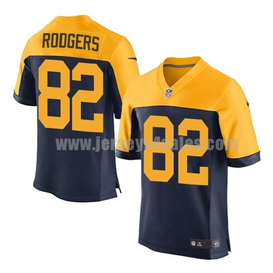 Men's Green Bay Packers #82 Richard Rodgers Navy Blue Stitched Nike NFL Alternate Elite Jersey
