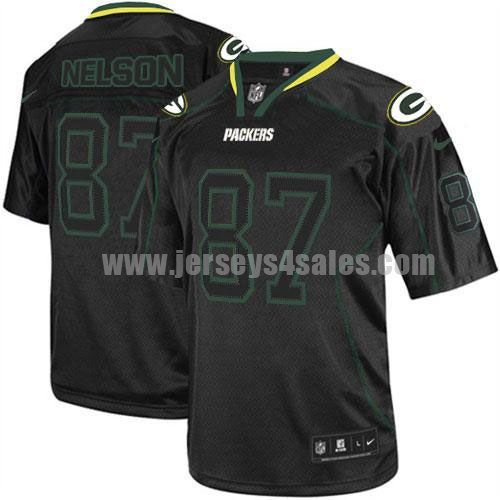 Nike Packers #87 Jordy Nelson Lights Out Black Men's Stitched NFL Elite Jersey