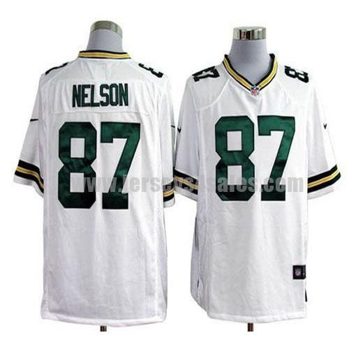 Nike Packers #87 Jordy Nelson White Men's Stitched NFL Game Jersey