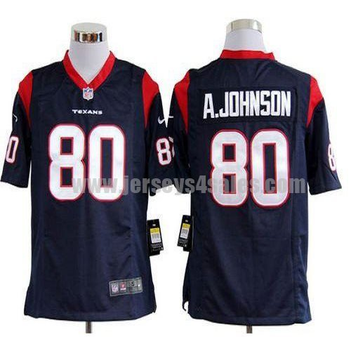 Nike Texans #80 Andre Johnson Navy Blue Team Color Men's Stitched NFL Game Jersey