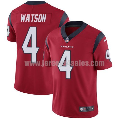 Youth Houston Texans #4 Deshaun Watson Red Nike NFL Vapor Untouchable Limited Jersey