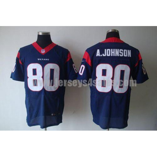 Nike Texans #80 Andre Johnson Navy Blue Team Color Men's Stitched NFL Elite Jersey