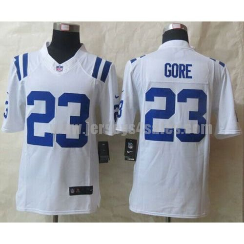 Nike Colts #23 Frank Gore White Men's Stitched NFL Limited Jersey