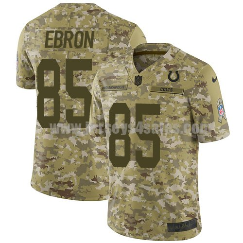 Nike Indianapolis Colts #85 Eric Ebron Camo Men's Stitched NFL Limited 2018 Salute To Service Jersey