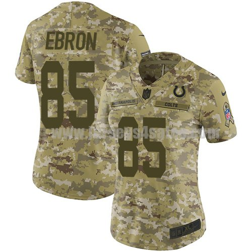 Nike Indianapolis Colts #85 Eric Ebron Camo Women's Stitched NFL Limited 2018 Salute to Service Jersey