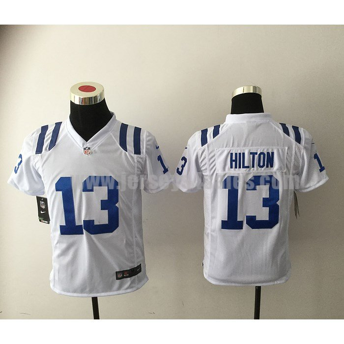 Youth Indianapolis Colts #13 T.Y. Hilton White Nike NFL Road Game Jersey