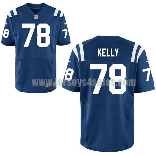 Men's Indianapolis Colts #78 Ryan Kelly Royal Blue Stitched Nike NFL Home Elite Jersey