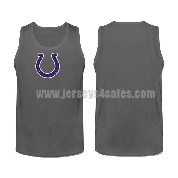 Men's Indianapolis Colts Cotton Team Nike NFL Charcoal Tank Top