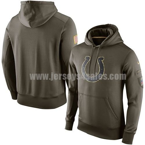 Men's Indianapolis Colts Nike Green Salute To Service KO Performance NFL Hoodie