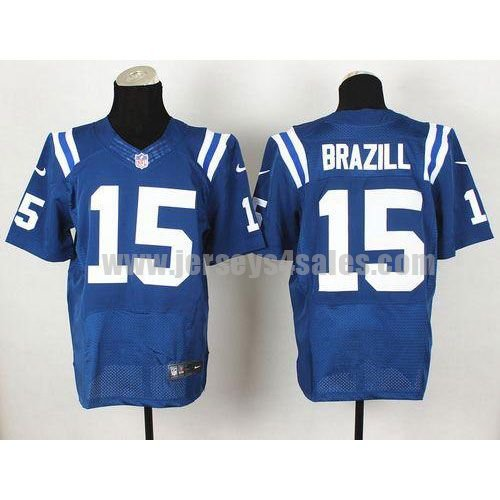 Nike Colts #15 LaVon Brazill Royal Blue Team Color Men's Stitched NFL Elite Jersey