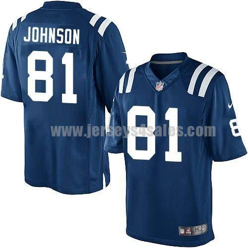 Nike Colts #81 Andre Johnson Royal Blue Team Color Men's Stitched NFL Limited Jersey