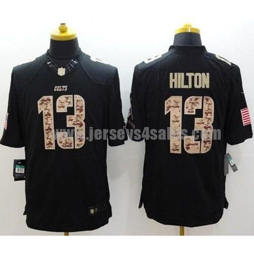 Nike Colts #13 T.Y. Hilton Black Men's Stitched NFL Limited Salute to Service Jersey