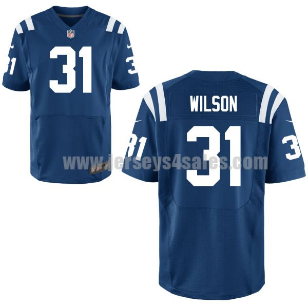 Men's Indianapolis Colts #31 Quincy Wilson Royal Blue Nike NFL Elite Jersey