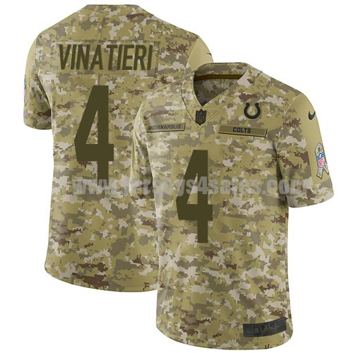 Nike Indianapolis Colts #4 Adam Vinatieri Camo Youth Stitched NFL Limited 2018 Salute to Service Jersey