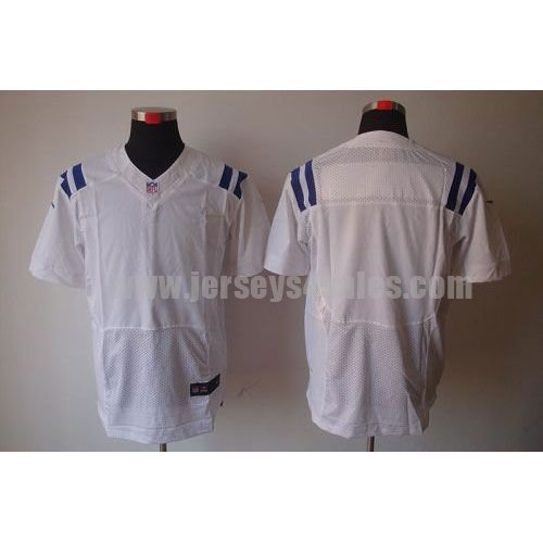Nike Colts Blank White Men's Stitched NFL Elite Jersey