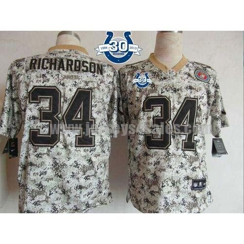 Nike Colts #34 Trent Richardson Camo With 30TH Seasons Patch Men's Stitched NFL Elite USMC Jersey