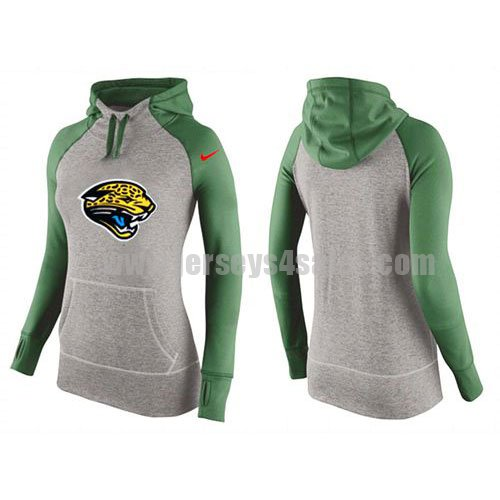 Women's Jacksonville Jaguars Grey/Green All Time Performance NFL Hoodie