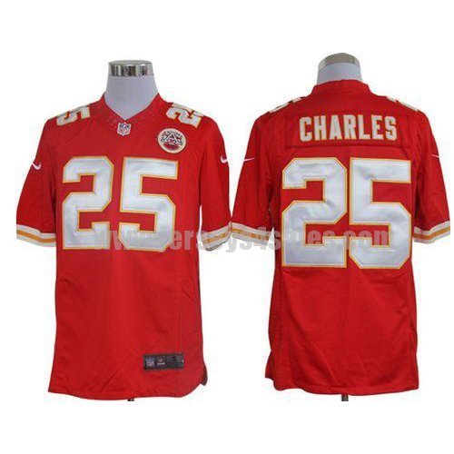 Nike Chiefs #25 Jamaal Charles Red Team Color Men's Stitched NFL Limited Jersey