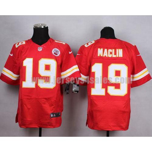 Nike Chiefs #19 Jeremy Maclin Red Team Color Men's Stitched NFL Elite Jersey