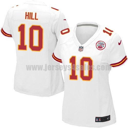 Nike Kansas City Chiefs #10 Tyreek Hill White Women's Stitched NFL Elite Jersey