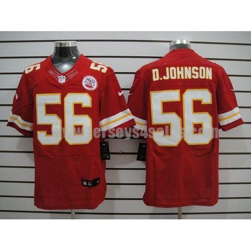 Nike Chiefs #56 Derrick Johnson Red Team Color Men's Stitched NFL Elite Jersey