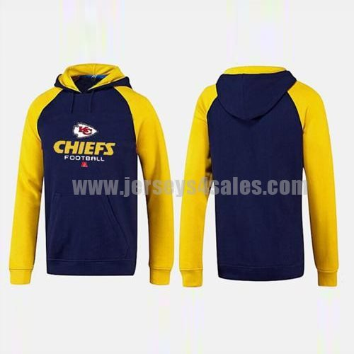 Kansas City Chiefs Critical Victory Pullover Hoodie Dark Blue & Yellow