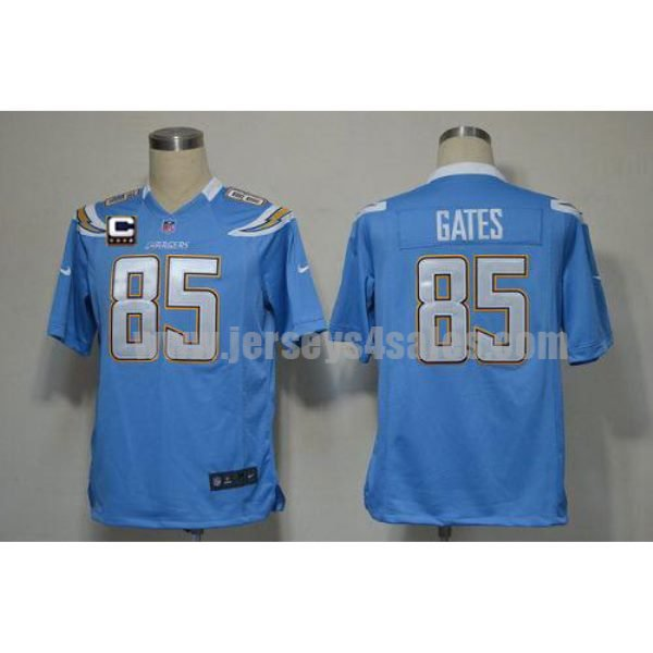 Nike Chargers #85 Antonio Gates Electric Blue Alternate With C Patch Men's Stitched NFL Game Jersey
