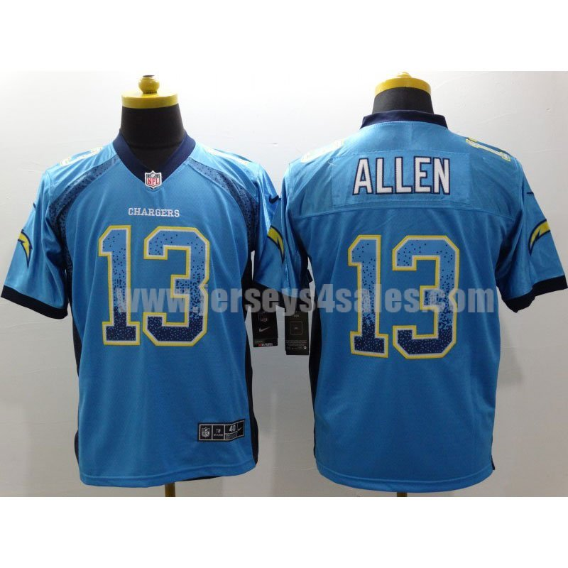 Men's Los Angeles Chargers #13 Keenan Allen Blue Nike Stitched NFL Elite Drift Fashion Jersey