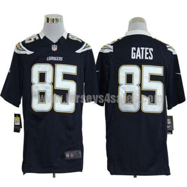 Nike Chargers #85 Antonio Gates Navy Blue Team Color Men's Stitched NFL Game Jersey