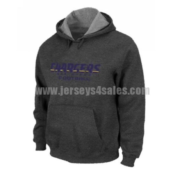 Los Angeles Chargers Authentic Font Pullover Hoodie Dark Grey