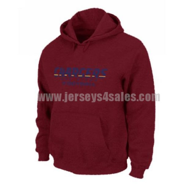 Los Angeles Chargers Authentic Font Pullover Hoodie Red