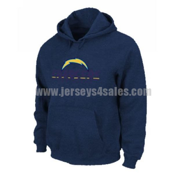 Los Angeles Chargers Authentic Logo Pullover Hoodie Dark Blue