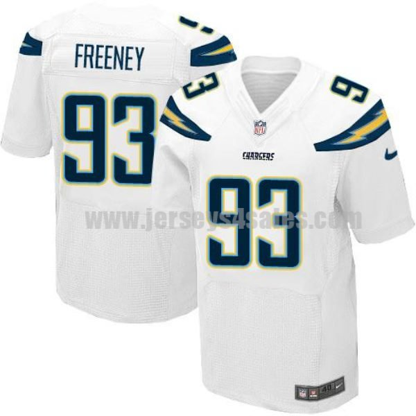 Nike Chargers #93 Dwight Freeney White Men's Stitched NFL New Elite Jersey