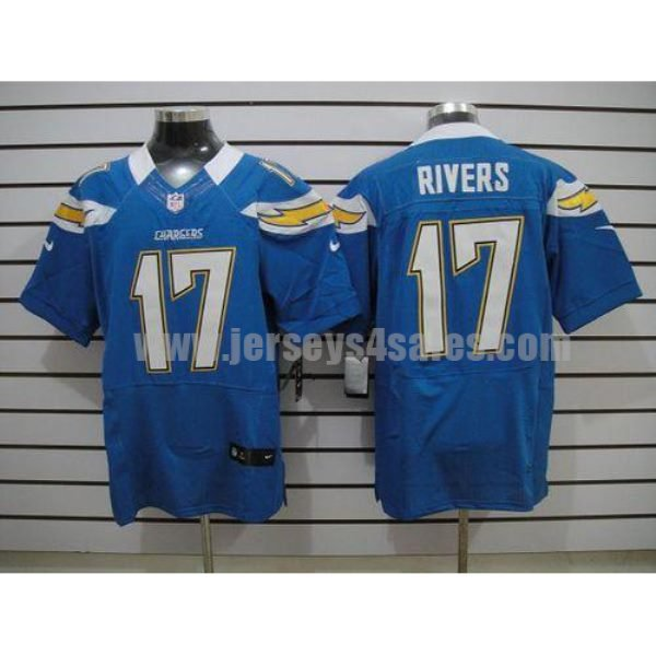 Nike Chargers #17 Philip Rivers Electric Blue Alternate Men's Stitched NFL Elite Jersey