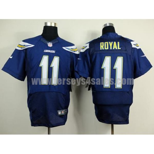 Nike Chargers #11 Eddie Royal Navy Blue Team Color Men's Stitched NFL New Elite Jersey