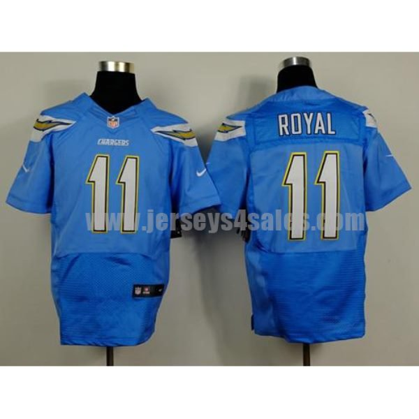 Nike Chargers #11 Eddie Royal Electric Blue Alternate Men's Stitched NFL New Elite Jersey