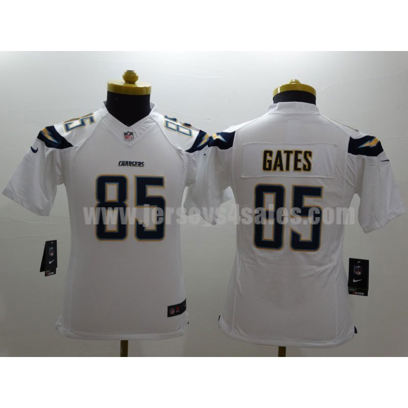 Youth San Diego Charger #85 Antonio Gates White NFL New Nike Limited Jersey