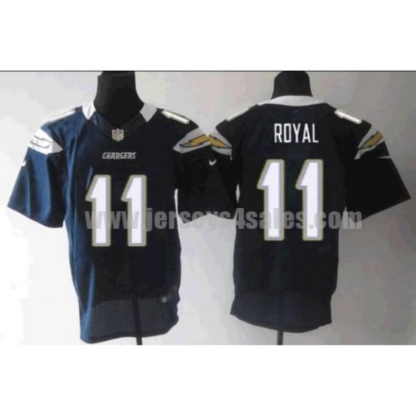 Nike Chargers #11 Eddie Royal Navy Blue Team Color Men's Stitched NFL Elite Jersey