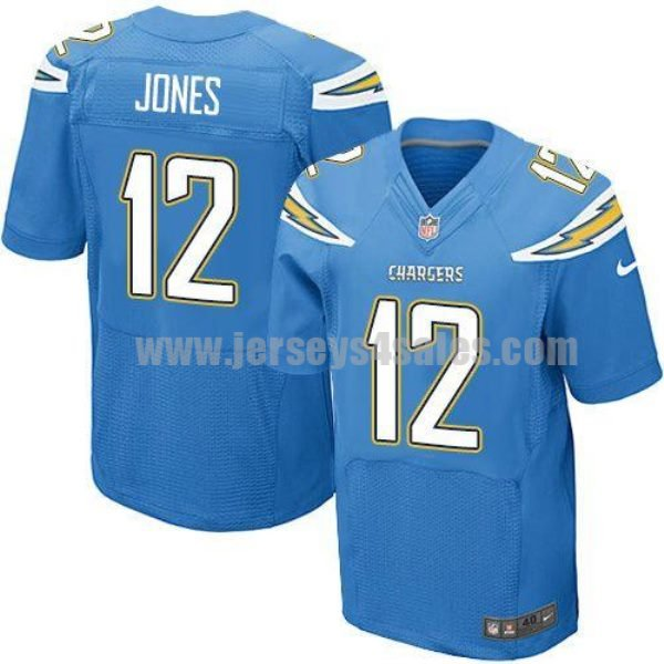 Nike Chargers #12 Jacoby Jones Electric Blue Alternate Men's Stitched NFL New Elite Jersey